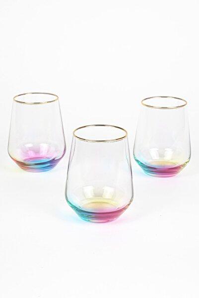 Rakle Rainbow 3'lü Su Bardağı Seti  425 cc
