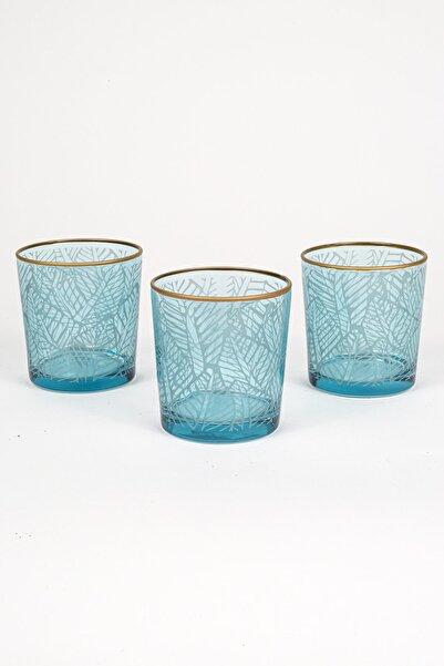 Rakle Exotic 3'lü Meşrubat Bardağı Seti_Mavi 380 cc