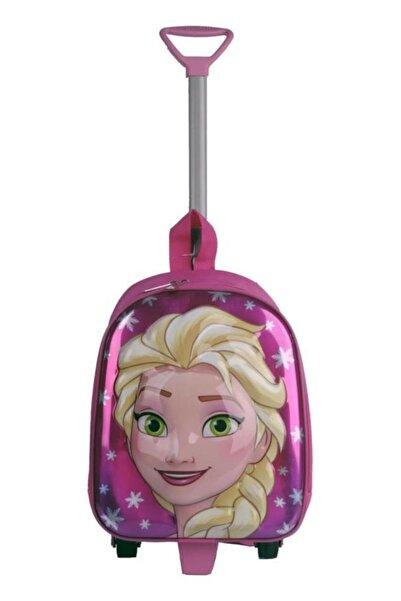 BEBEBEBEK Frozen Elsa Çekçekli Anaokulu Çantası Elsa Kreş Çantası