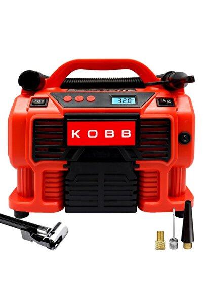 KOBB Kb300 12volt/220volt 160 Psı Dijital Basınç Göstergeli Lastik & Yatak Şişirme Pompası