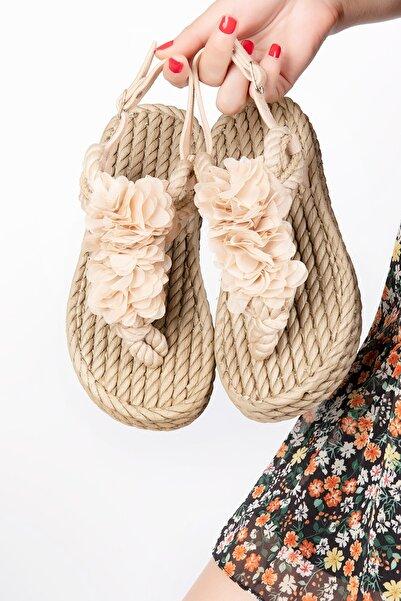 Gondol Halat Örgü Sandalet