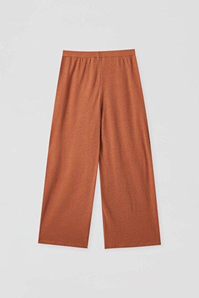 Pull & Bear Kadın Kavruk Basic Culotte Pantolon 05670208