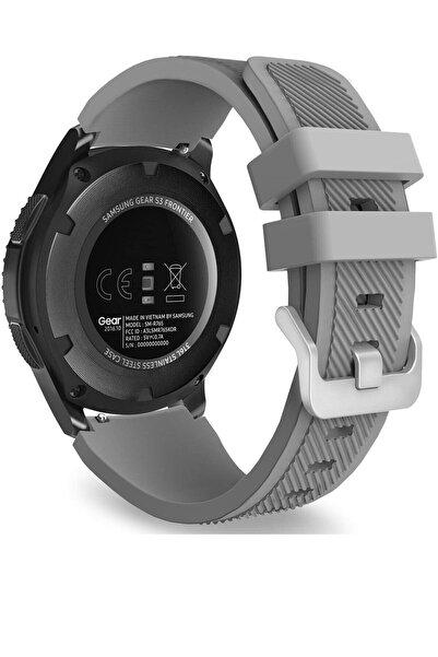 TahTicMer Huawei Watch Gt2 46mm Sport Kordon Silikon Gri