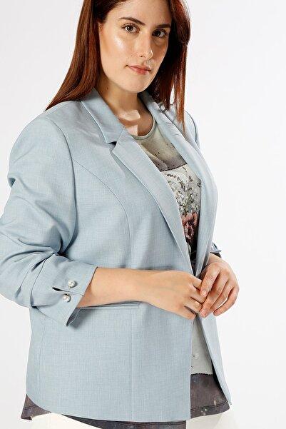 Ekol Kadın Mavi Ceket 503229953