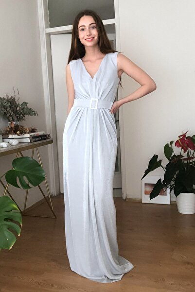 TRENDYOLMİLLA Mint Kemer Detaylı Abiye & Mezuniyet Elbisesi TPRSS20AE0240