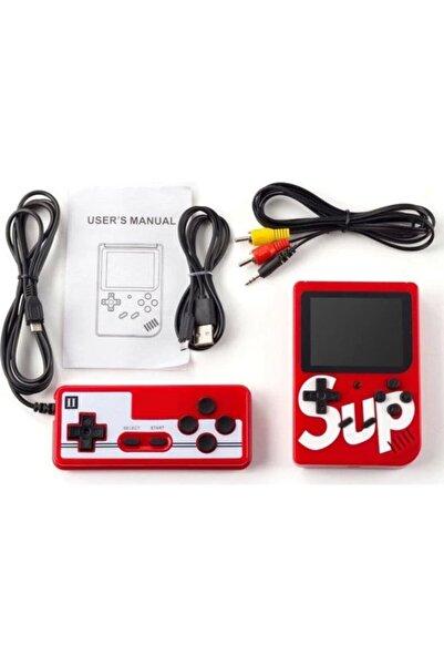 """Retro Sup Taşınabilir Video Oyun Konsolu 3"""" 400 Oyunlu Mini Atari Gameboy 2 Oyunculu Kırmızı"""