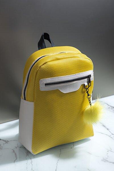 Tonny Black Kadın Çanta Sarı Beyaz Tbc03