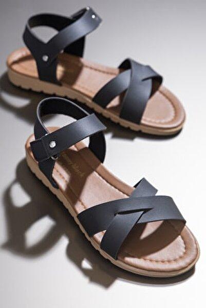 Kadın Sandalet Siyah Tbsnd