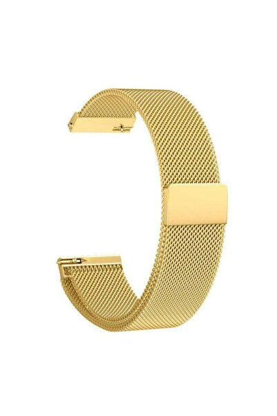 Techmaster Samsung Gear Watch 42mm Gear Sport Active 2 40 44mm Metal Hasır Tme Kordon Gold