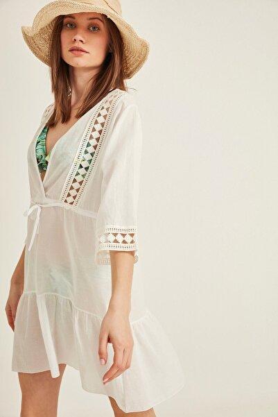 Kadın Beyaz Pareo Plaj Elbisesi 2011 Tcty20sspro011