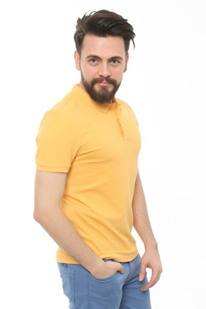 Cazador Erkek Hardal T-Shirt - Cdr4613-19YCEEOM4613