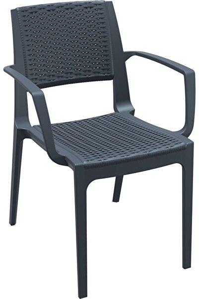 Siesta Koyu Gri Bahçe Sandalyesi