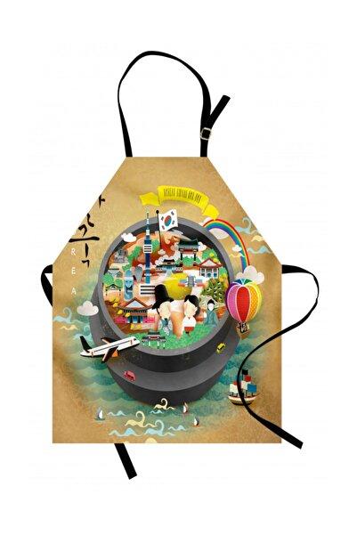 Orange Venue Kore Mutfak Önlüğü Uzak Doğudaki Ülkenin Değerleri Sade Görsel Rengirenk