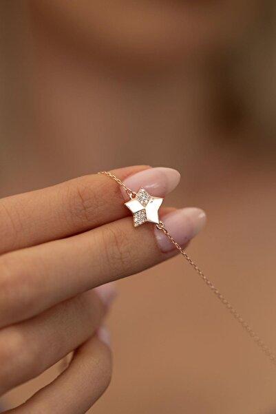 İzla Design Kadın Yıldız Model Rose Kaplama Gümüş İtalyan Bileklik PKT-TLYSLVR0061