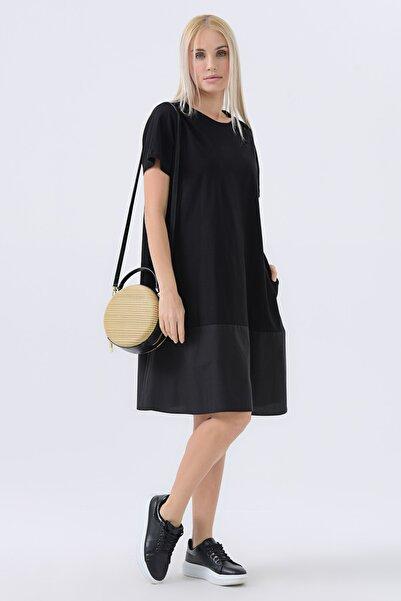 Kadın Siyah Penye Elbise 20YG001347