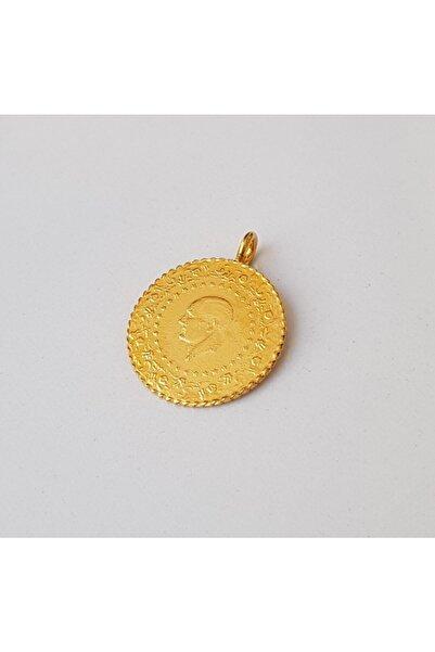 TURKUAZ 22 Ayar Altın Kaplama Kulplu Tarihli Imitasyon Çeyrek Altın