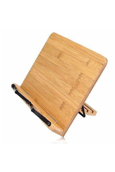 ebulduk Ahşap Katlanabilir Kitap Okuma Standı - Kitap-tablet Tutma Standı