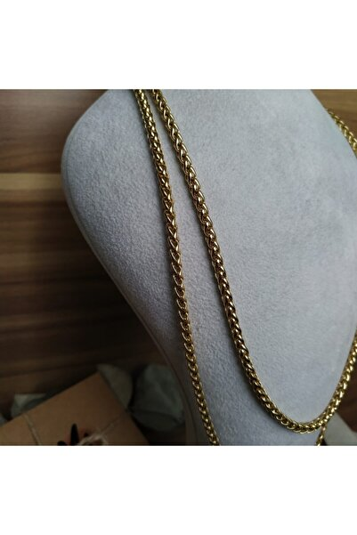 Mammamia 60cm Ally 4mm Gold Halat Örgü Zincir Çelik Kolye