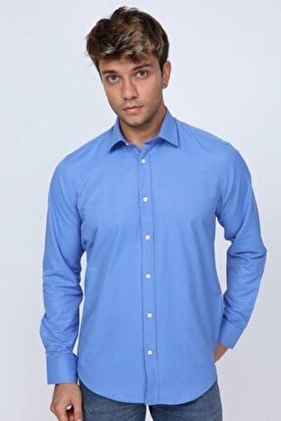 Erkek Mavi  Club Slim Fit Koyu Gömlek