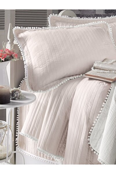 Evim Home Ponponlu Yatak Örtüsü Set Çift Kişilik