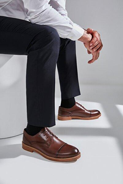 Hakiki Deri Kahve Erkek Klasik Ayakkabı 02AYH166280A480