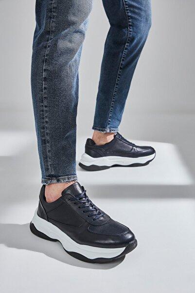Hakiki Deri Lacıvert Erkek Klasik Ayakkabı 02AYH172500A680