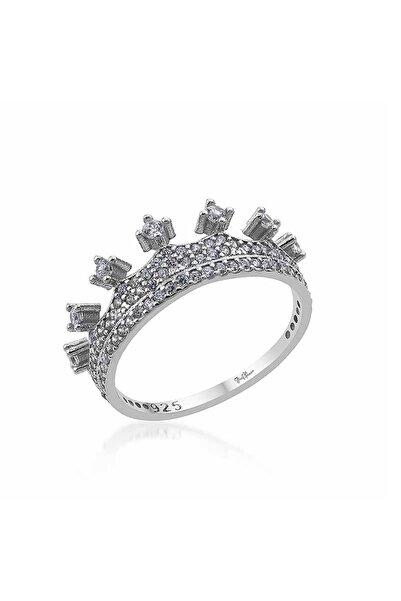 Gümüş Pazarım Kraliçe Motifli Gümüş Kadın Yüzük