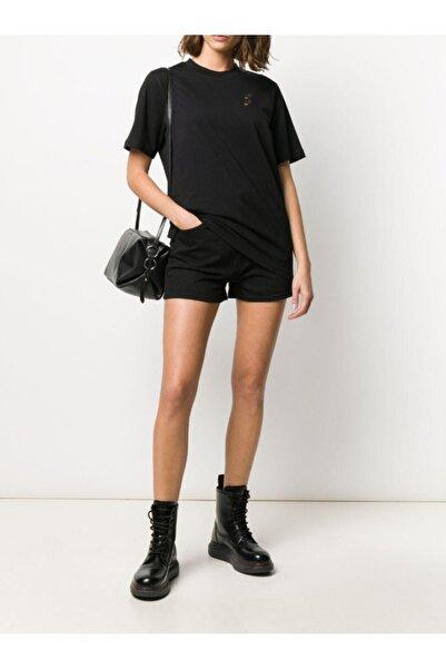 Mcq Siyah Kadın Çift Kırlangıç Nakışlı T-shirt