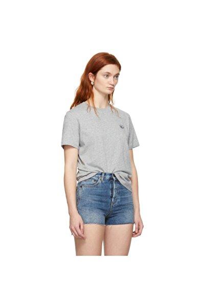 Mcq Sıfır Yaka Gri Uniseks T-shirt
