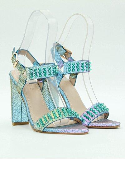 Guja Kadın Topuklu Ayakkabı 20y158-2 Mavi