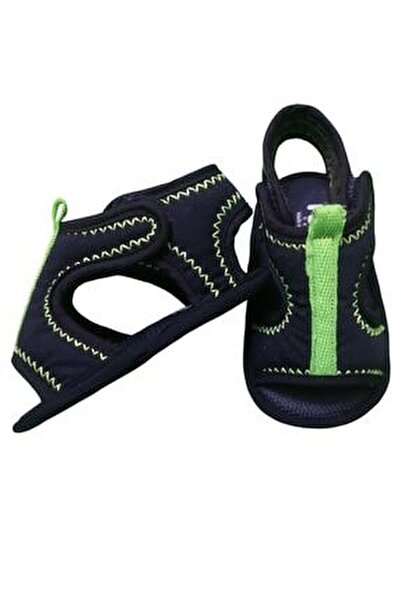 Elegance Cırtlı Bebek Sandalet Lacivert-neon