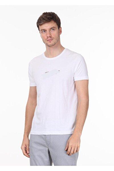 Ramsey Erkek Beyaz Baskılı Örme T - Shirt RP10119998