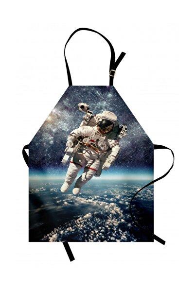 Orange Venue Uzay Mutfak Önlüğü Uçan Astronot Fotoğrafı