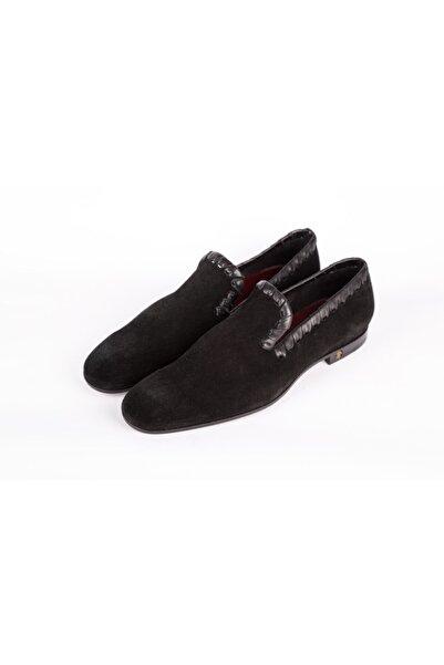 Roberto Cavalli Erkek Lacivert Deri Dikişli Ayakkabı