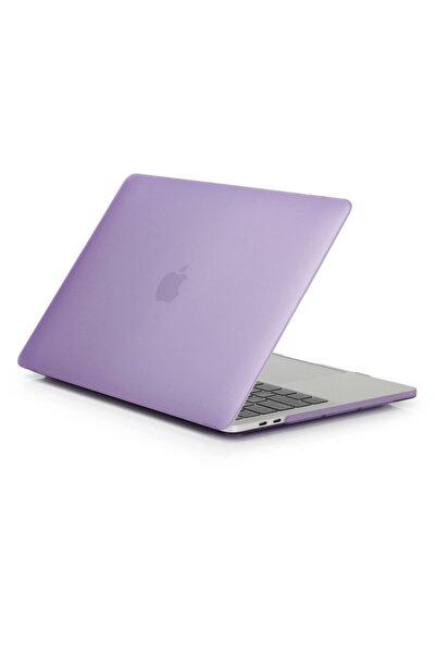 Alaca Macbook Pro 13.3' A2159 - A2289  Ön Arka Mat Doku Case Mor Kılıf