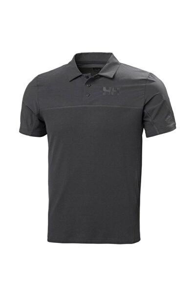 Helly Hansen Erkek Siyah Polo T-shirt Hh Hp Foil Ocean