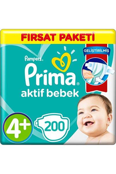 Prima 4+ Beden Bebek Bezi Fırsat Paketi 10-15 Kg (4*50) 200 Adet
