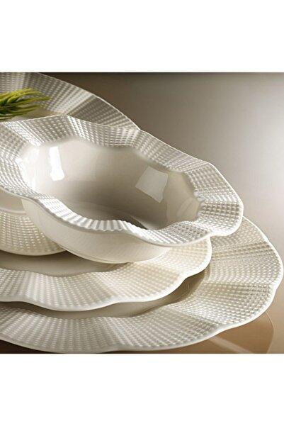 Kütahya Porselen Milena 24 Parça Yemek Takımı,beyaz