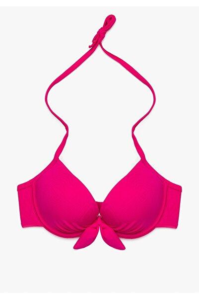 Kadın Pembe Düz Bikini Üstü 9YAK89552OM