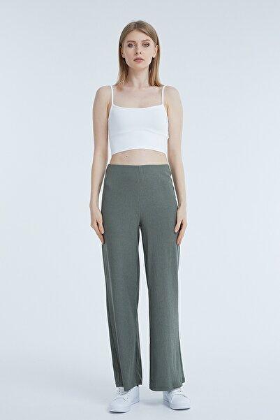 PAULMARK Kadın Haki Regular Pantolon