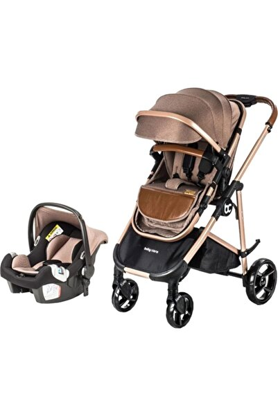 Baby Care Bc-35 Safe Trio Travel Bebek Arabası Gold/kahverengi