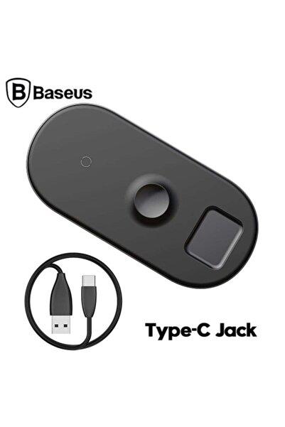 Baseus Smart 3ın1 Wıreless Kablosuz Şarj Iphone Iwatch Aırpods Siyah
