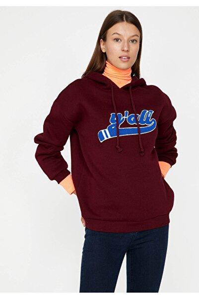 Kadın Bordo Sweatshirt 9KAL11549JK
