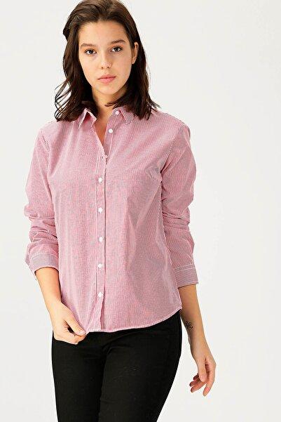 LİMON COMPANY Kadın Kırmızı Gömlek 503760223 / Boyner