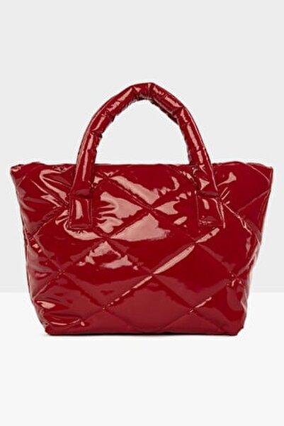 Kırmızı Kadın Kapitone Şişme Çanta M000003894