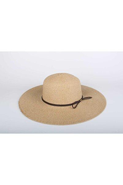 SİYASA Kadın Hasır Şapka 2020 Byn-15 Mini Kurdela Krem