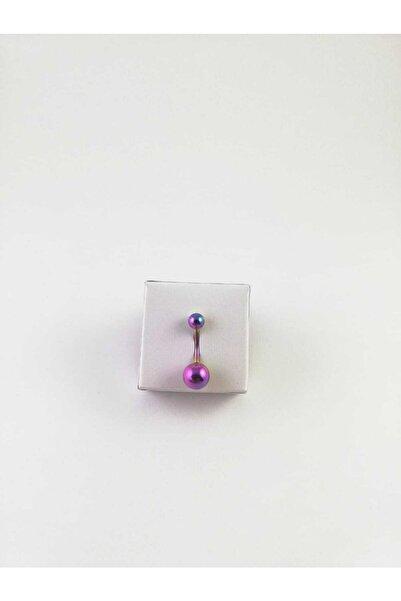 Çelik Rainbow Göbek Piercing 316l