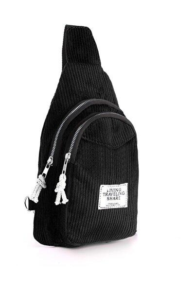 Chicago Polo Sıyah Kadın  Omuz Çantası Elu4010Sı