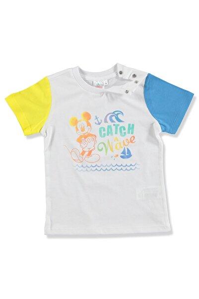 DISNEY Yaz Erkek Bebek Mickey Mouse Pamuk Tshirt