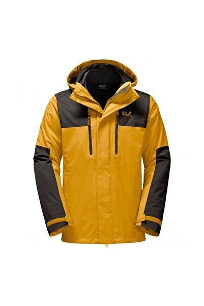 Jack Wolfskin Jasper 3in1 Erkek Sarı Siyah Renkli Ceket - 1108391-3015